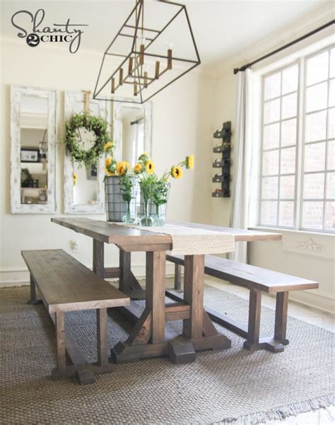 Pottery Barn Inspired by Diy Pottery Barn Inspired Dining Table For 100 Shanty 2