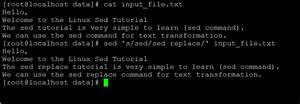 Linux Sed Replace