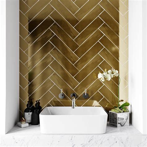 british ceramic tile metallic gold wall tile mm  mm