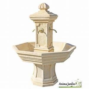 Fontaine De Jardin Pas Cher : fontaine adonis ocre en pierre reconstitu e h 155 achat ~ Carolinahurricanesstore.com Idées de Décoration