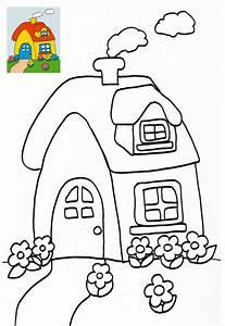 coloriage maison jardin With dessin de maison facile 4 pate 224 modeler maison facile