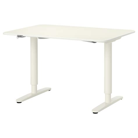 sit stand office desk bekant desk sit stand white 120x80 cm ikea