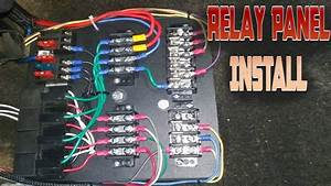 Custom Relay Panel Installation