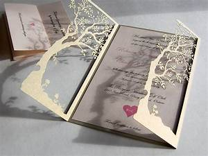 love tree custom laser cut wedding invitations and reply With laser cut wedding invitations tree uk