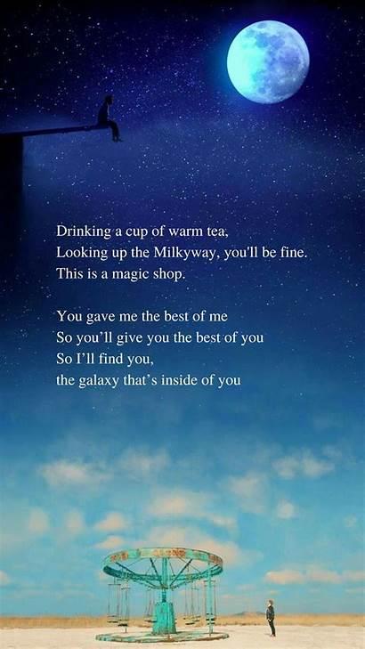 Bts Lyrics Magic Quotes Wallpapers English Lyric