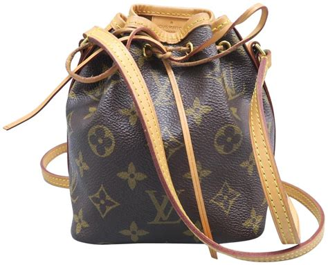 louis vuitton noe nano brown monogram canvas cross body