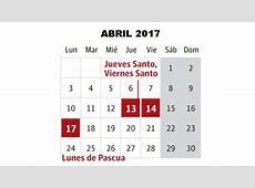Semana Santa 2018 CalendarioLaboralcommx