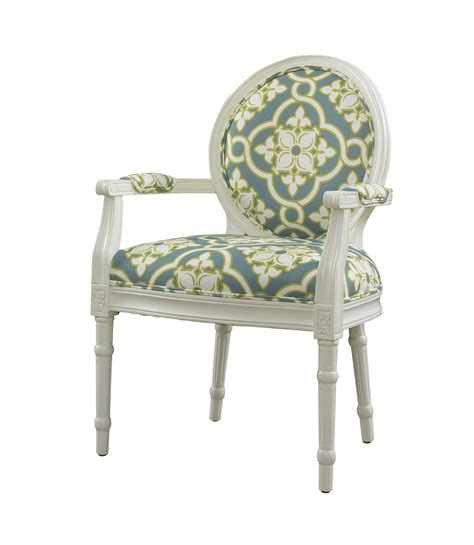 l powell white and teal ghost chair