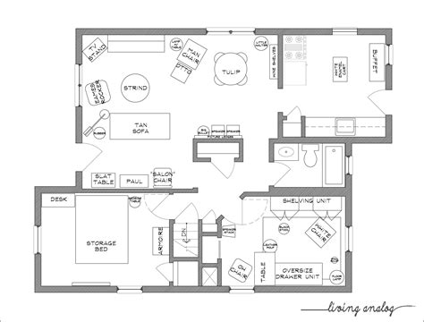Download Free Printable Furniture Templates For Floor