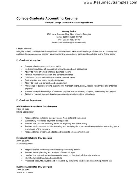 accountant resume skills free resume templates