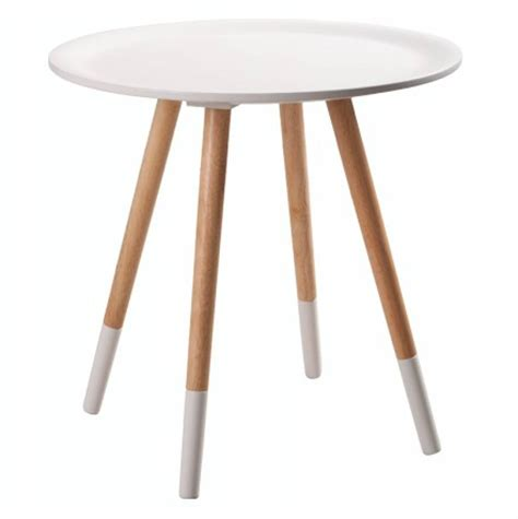 white wooden table l zuiver wooden side table white ø48x47 5cm lefliving com