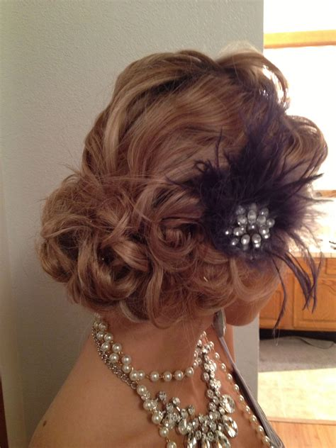 Updo Hairstyle For Hair by Vintage 1920 S Updo Gatsby Hairstyles For