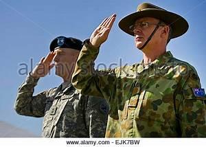 U.S. Army Maj. Gen. Michael Bills, right, the commanding ...
