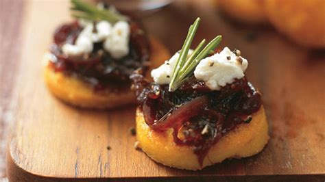 goats cheese canape recipes polenta bites with goats cheese cheeses