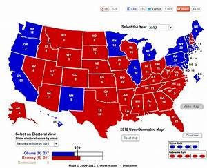 2012 Presidential Election Electoral College Map ...
