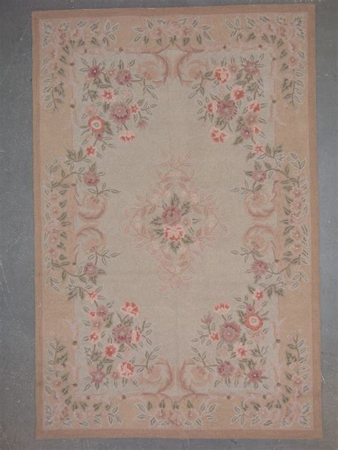 6x9 Wool Rug by 6x9 Hooked Aubusson Design Wool Area Rug