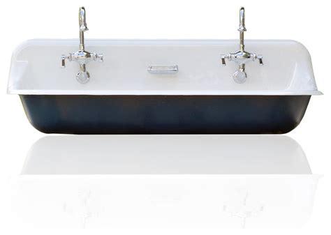 cast iron farmhouse sink large 48 quot kohler farm sink cast iron porcelain trough sink