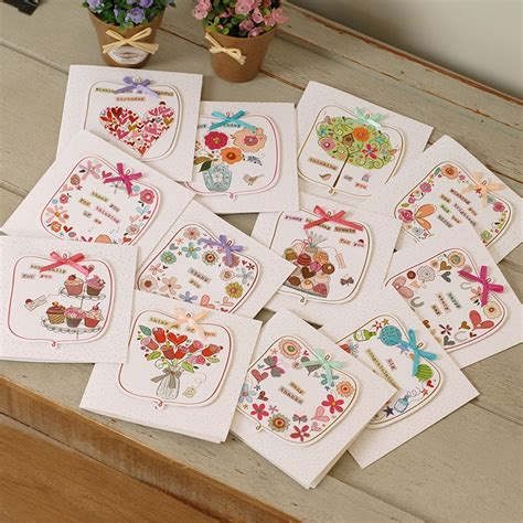 Collection by joann angeline autz. Aliexpress.com : Buy 12 sets cute mini greeting cards square handmade birthday cards for kids ...