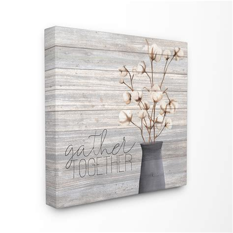 Browse our selection of together wall tapestries and find the perfect design for you—created by our community of independent artists. The Stupell Home Decor Grey Gather Together Cotton Flowers in Vase Canvas Wall Art - Walmart.com ...