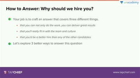 Why Should We Hire You Answers by Lesson 4 How To Answer Why Should We Hire You Unacademy
