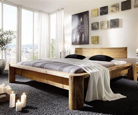 Wandvertäfelung Holz Rustikal by Balkenbett 180x200 Nordisches Massivholz Rustikal Antik