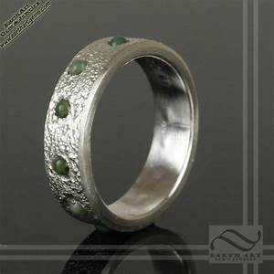 Mens jade inlay wedding band wwwearthartgemandjewelrycom for Jade wedding ring