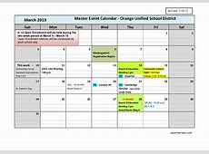 Best Photos of Master Calendar Template Blank Master