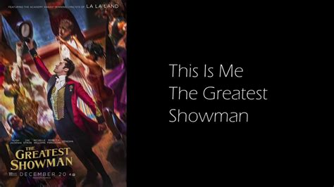 This Is Me Sung By Keala Settle & The Greatest Showman