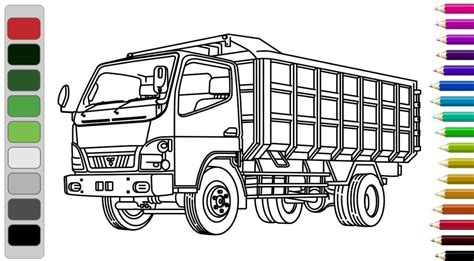 mewarnai gambar truk gandeng