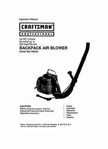 Craftsman Blower 360 7969 User Guide