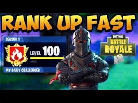 fortnite rank  super fast xp easy max level