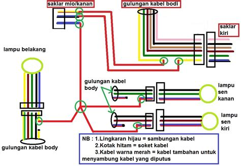tips pasang saklar lu untuk motor baru part 2 diagram rangkaian kabel aripitstop
