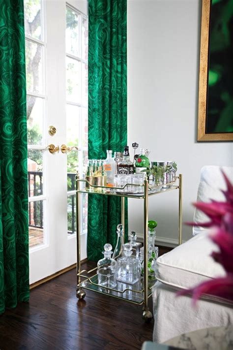 Emerald Green Drapes Design Ideas