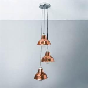 Copper, Chandelier, Pendant, Light, Shade, By, Bare, Bones, Lighting