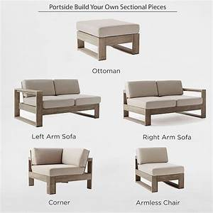 build your own portside sectional weathered gray west elm With build your own sectional sofa plans