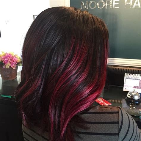 red violet highlights ideas  pinterest red