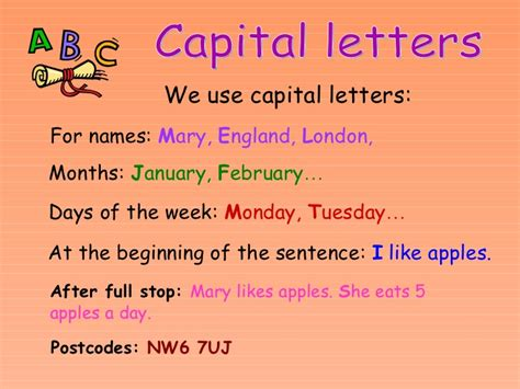 punctuation and capital letters e1 e2