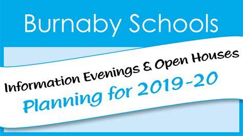 open houses info evenings burnaby schools school district