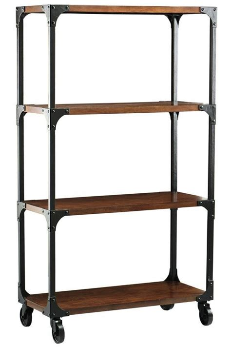 industrial bookcase on wheels shelves astonishing bookshelves on wheels bookshelves on