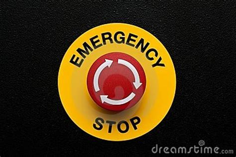 red emergency button royalty  stock photography