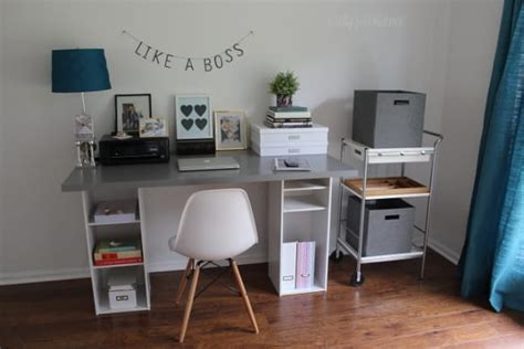 Diy Corner Desk Ikea by Ikea Hack Desk Diy For 60