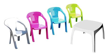 table et chaise pour enfants salon de jardin enfants 1 table 4 chaises plastique