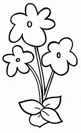 Flower Easy Violet Coloring Pages Preschool Basic Simple Flowers Facile Printable Coloriage Drawing Dessin Fleur Fleurs Violets Des Drawings Dessins sketch template