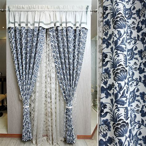 blue and white curtains aliexpress buy blue and white porcelain curtain