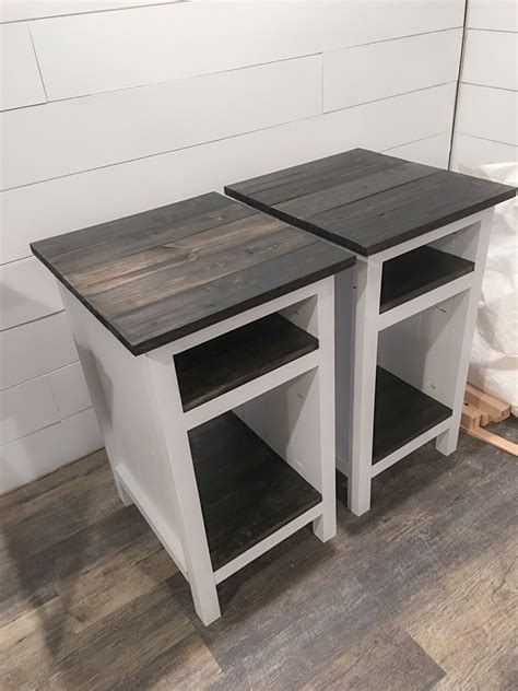 Large White Farmhouse Style Nightstand Most Excellent