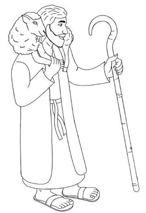 Jezus Goede Herder Kleuters Kleurplaat by Kleurplaten Categorie De Goede Herder