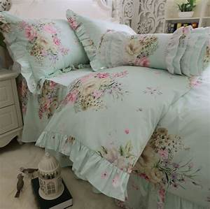 Rustic Ruffle Floral Single Single Double Bedding Set