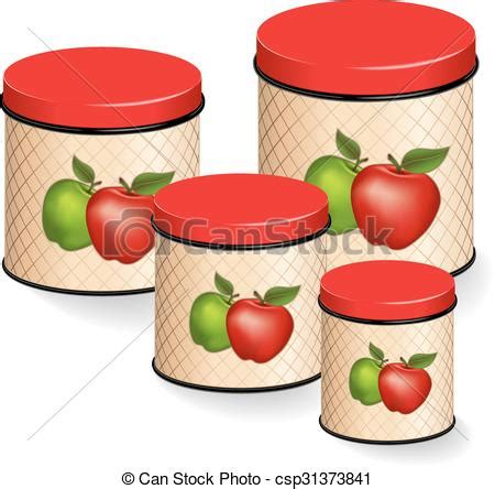 green kitchen canister set eps vector of kitchen canisters set with apples kitchen