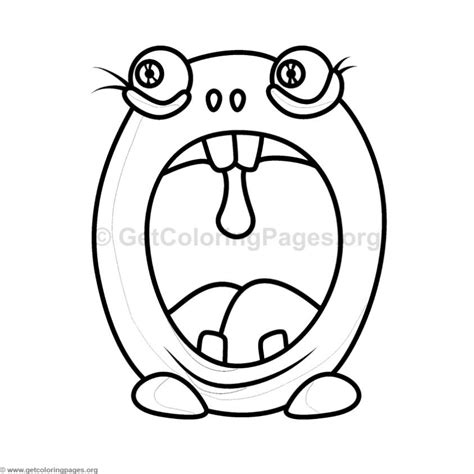 cute monster alphabet coloring pages letter  getcoloringpagesorg