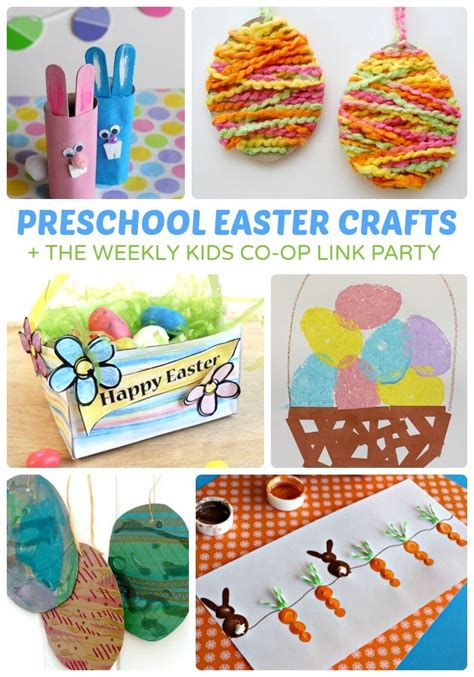 adorable preschool easter crafts b inspired 218 | Adorable Preschool Easter Crafts The Kids Co Op Link Party at B Inspired Mama